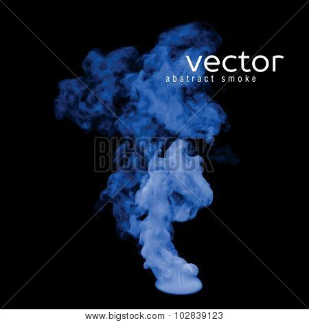 Vector Illustration Of Blue Smoke