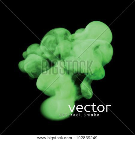 Vector Illustration Of Green Smoke