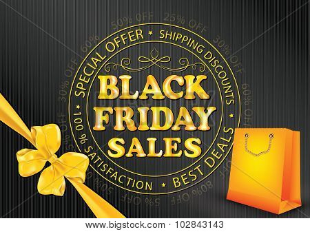 Black Friday advertising poster for print.