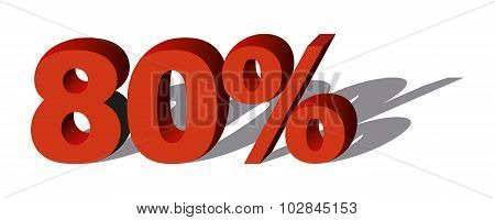 Illustration Vector Graphic Sale Percent 80