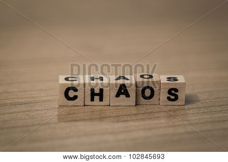 Chaos In Wooden Cubes