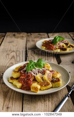 Homemade Gnocchi With Tomato Sauce