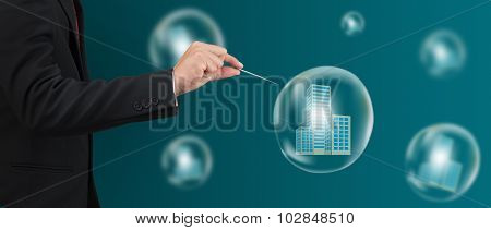 Hand Hole Needle With Condo In  Bubble