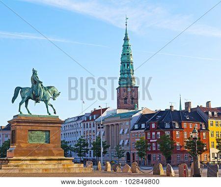 Equestrian statue of Frederik VII Copenhagen Denmark.