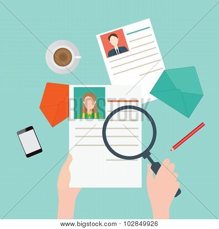 Magnifying Glass Searching Business People2.
