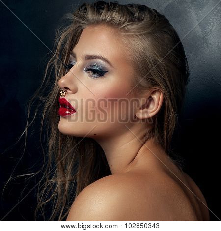 Beauty Portrait Of Young Sexy Girl.