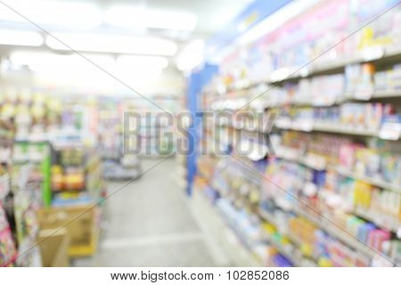 Supermarket Blur Background With Bokeh, Miscellaneous Product Sh