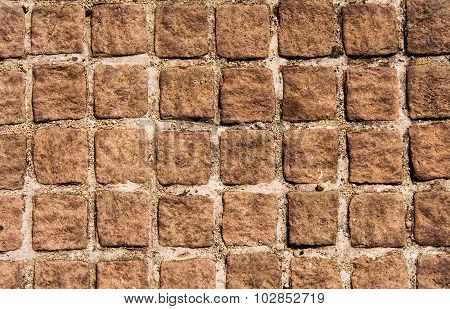 Real Stone Wall On Cement