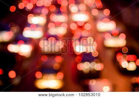 Bokeh Of Road Traffic Jam