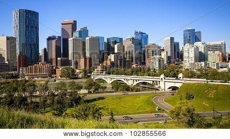 Daytime View Of The Calgary Skyline