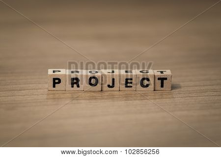 Project In Wooden Cubes