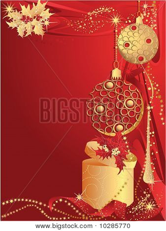 Red Christmas With Gift