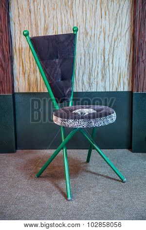 Green and grey chair
