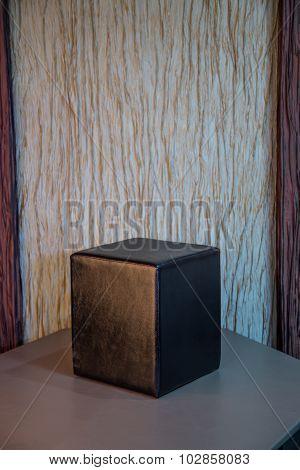 Black cube chair