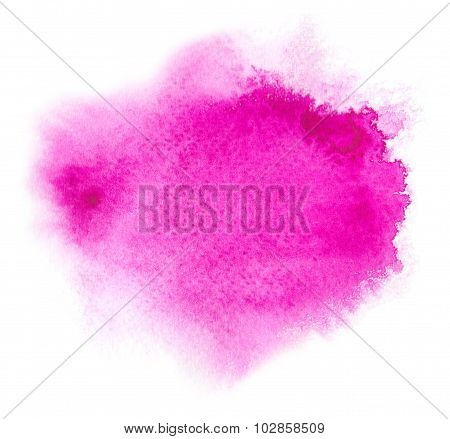 Magenta Water Color Background With Blotchiness And Strokes