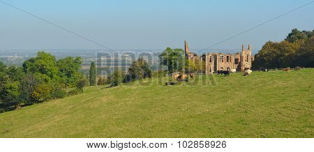 Houghton House with views of Bedford and Marston Vale.