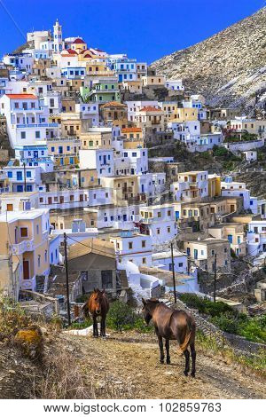 traditionlal villages of Greece - Olimpos in Karpathos island