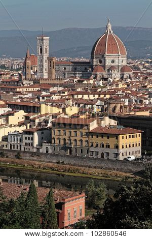 Florence City Center From Michelangelo Piazza