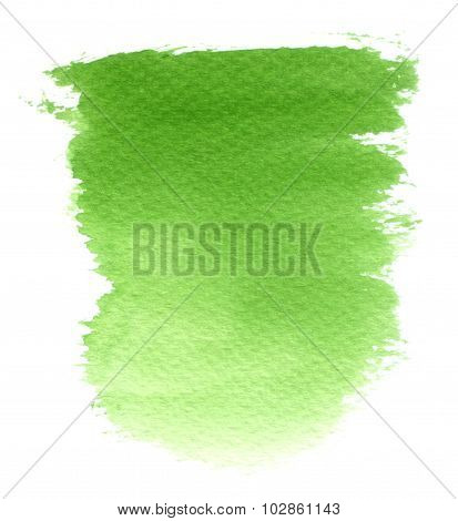 Abstract Green Watercolor Shape