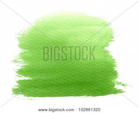 Watercolor Green Splatter