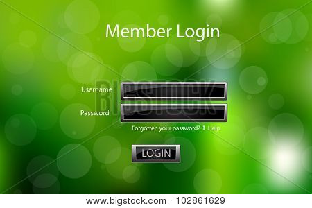 Vector Login Form