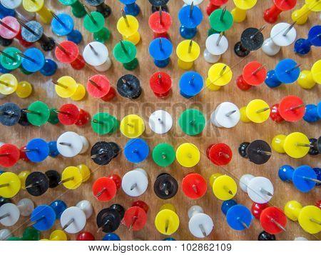 pattern of upside sharp pins