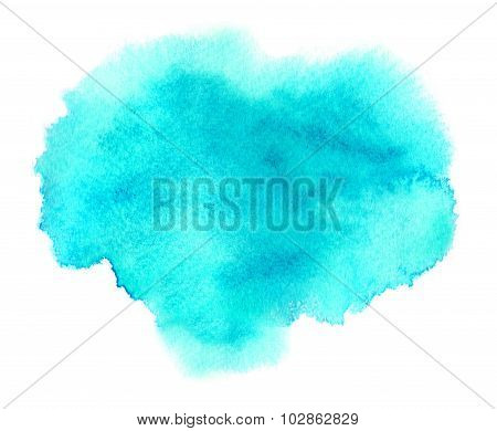 Light Blue Watercolor Stain With Blotch And Brush Strokes