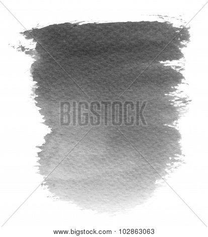 Monochrome Water Color Blotch Spot