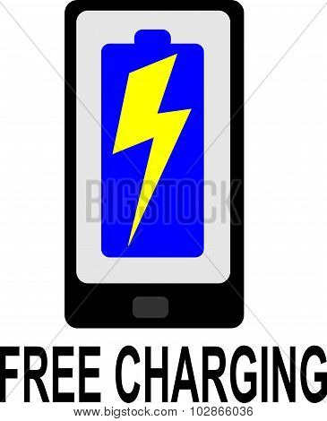free charging sign