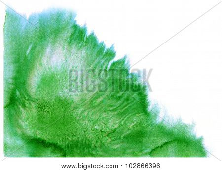 Abstract Green Watercolor Splash