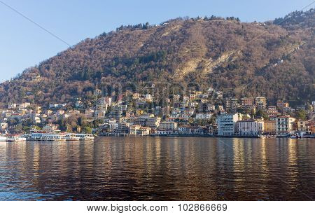 View of Como lakefront, Italy