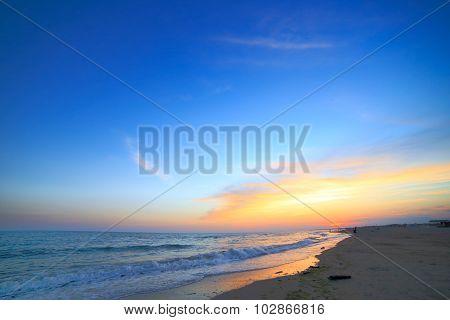 Seashore aerial view sae coast summer sky sunset
