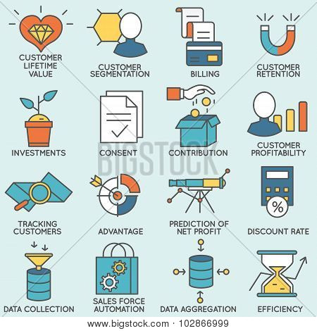 customer relationship management icons - part 6