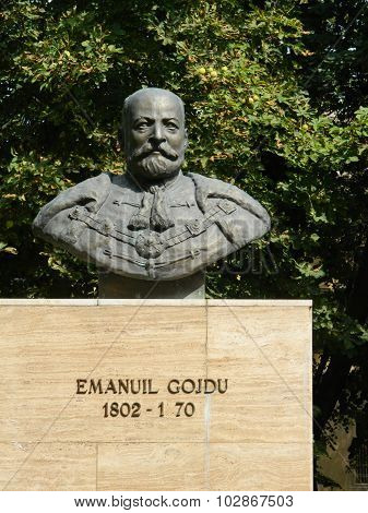 Bust Sculpture Of Emanuil Gojdu