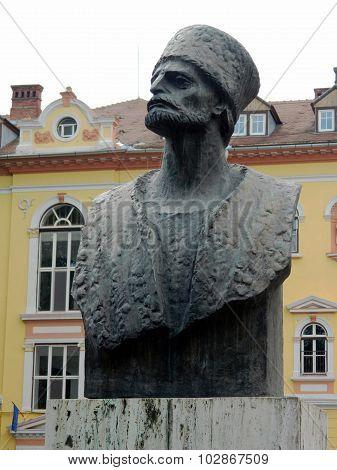 Bust Sculpture Of Badea Cartan Gheorghe