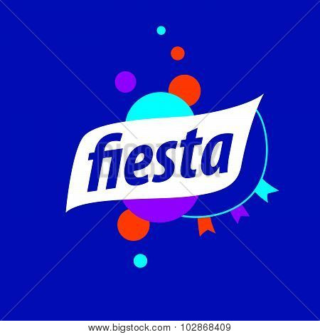 Vector Abstract Logo For The Fiesta On A Blue Background