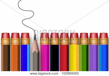 The Concept Of Multi-colored Pencils