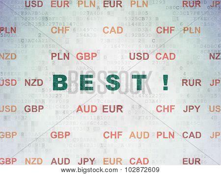 Business concept: Best on Digital Paper background