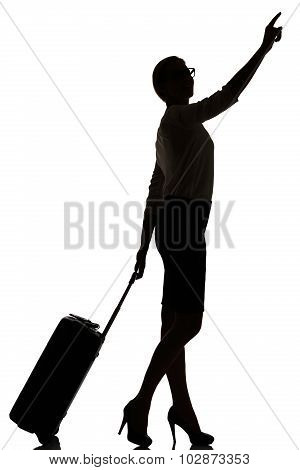 Hostess Business Class Travel Silhouette Studio Shot