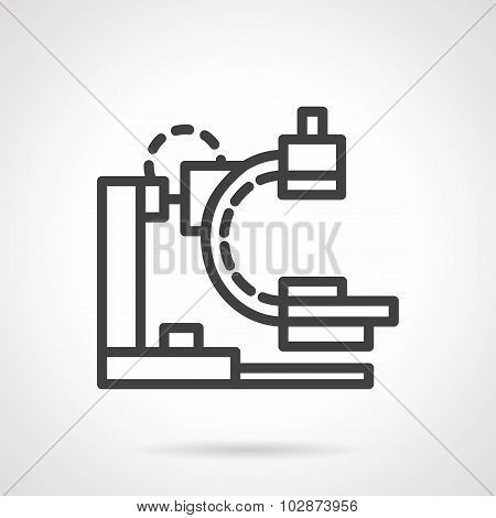 X-ray apparatus simple black line vector icon
