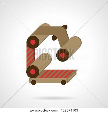 Conveyor element flat color vector icon