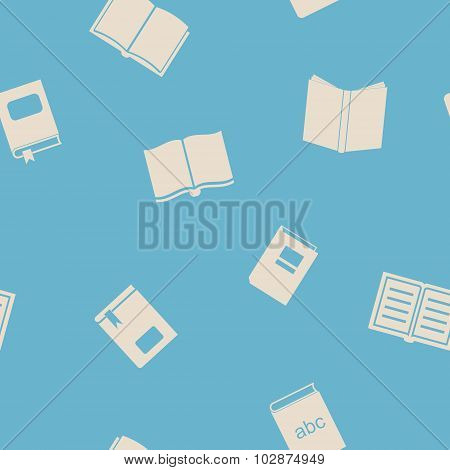 Seamless background with books