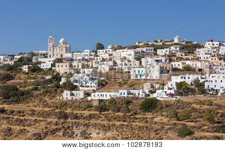 The picturesque village of Tripiti, Milos island, Cyclades, Greece