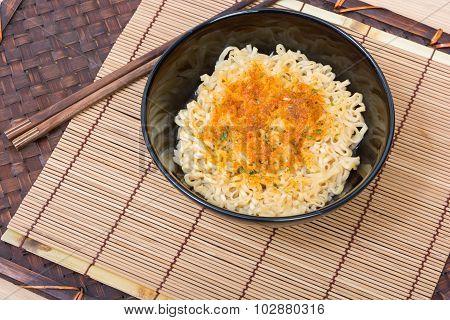 Instant Noodles In Black Cup