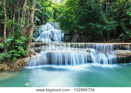 Waterfall   In  Forest Deep  Quiet