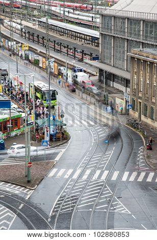 Frankfurt City Urban Road