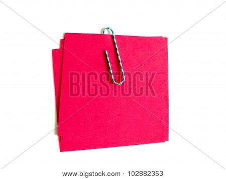 Color Paper Clip With Red Paper