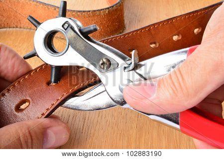Punching Holes On Leather Belt