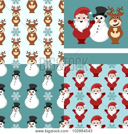 christmas repeating pattern set