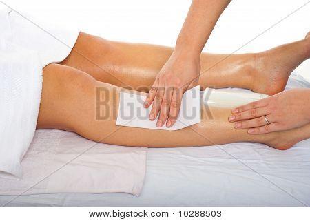 Waxing Leg